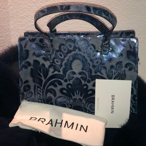 RARE BRAHMIN MEDIUM BLUE SHERGIN TOTE NWT